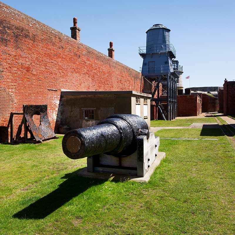 Big gun at Hurst Castle