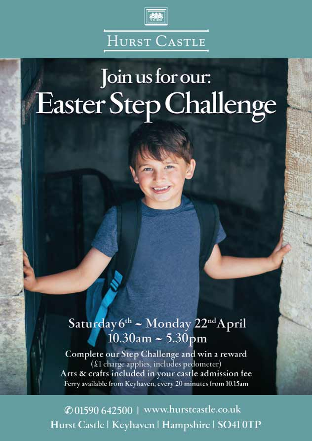 Hurst Castle Easter Step Challenge