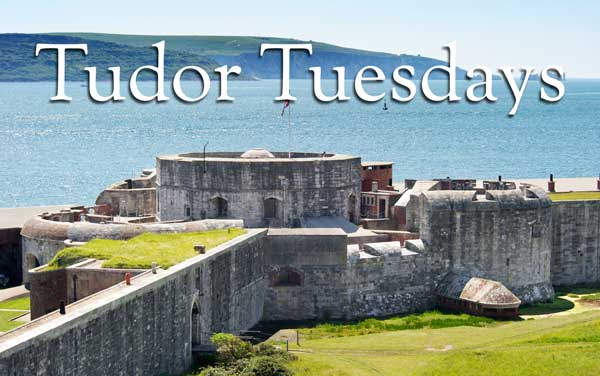 Hurst Castle Tudor Tuesdays looking over the Isle of White